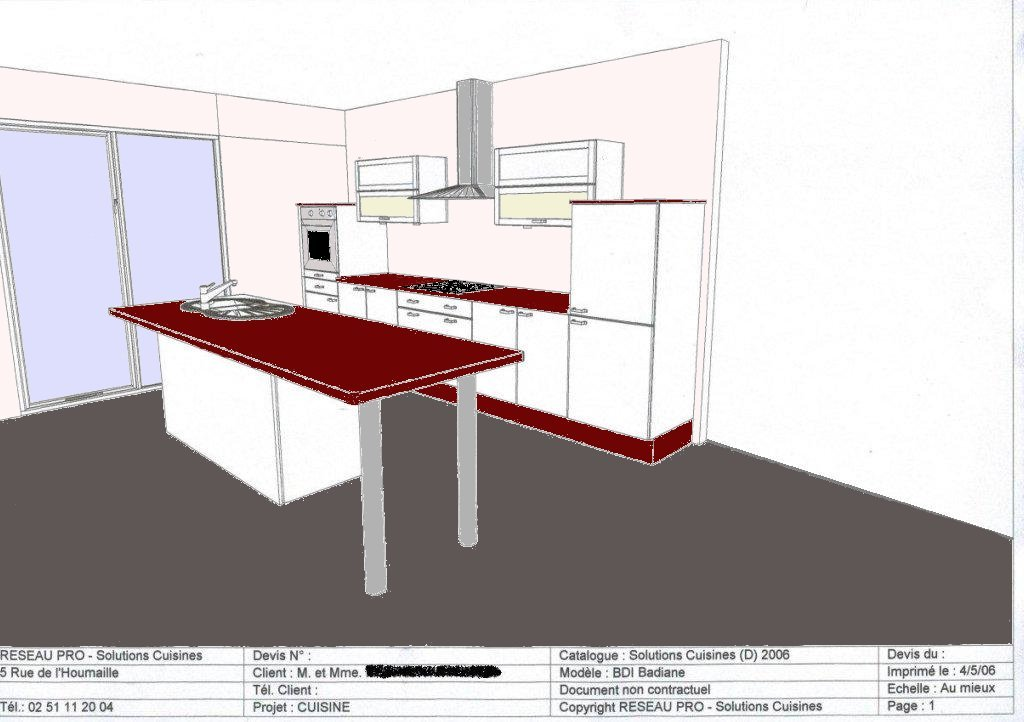 marie&benoît: notre futur chez nous - page cuisine - Type De Plan De Travail Cuisine