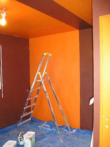 Chambre Orange Et Marron